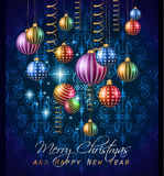 2015 New Year and Happy Christmas background for your flyers Royalty Free Stock Photo