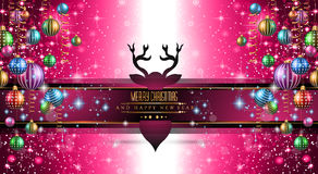 2015 New Year and Happy Christmas background for your flyers Royalty Free Stock Photography