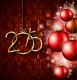 2015 New Year and Happy Christmas background. For your flyers, invitation, party posters, greetings card, brochure cover or generic banners Royalty Free Stock Photography