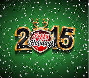2015 New Year and Happy Christmas background. For your flyers, invitation, party posters, greetings card, brochure cover or generic banners Stock Images