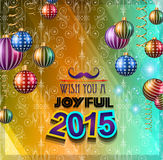 2015 New Year and Happy Christmas background. For your flyers, invitation, party posters, greetings card, brochure cover or generic banners Stock Illustration