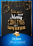 New Year and Happy Christmas background Royalty Free Stock Photos