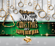 2015 New Year and Happy Christmas background Stock Photos