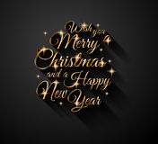 2015 New Year and Happy Christmas background Stock Image