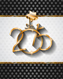 2015 New Year and Happy Christmas background. For your flyers, invitation, party posters, greetings card, brochure cover or generic banners Royalty Free Stock Photos
