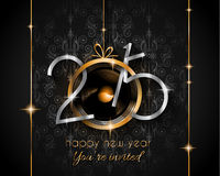 2015 New Year and Happy Christmas background. For your flyers, invitation, party posters, greetings card, brochure cover or generic banners Royalty Free Illustration