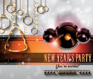 2015 New Year and Happy Christmas background Stock Photography