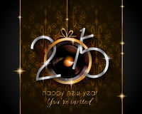 2015 New Year and Happy Christmas background. For your flyers, invitation, party posters, greetings card, brochure cover or generic banners Stock Image