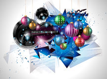 2015 New Year and Happy Christmas background. For your flyers, invitation, party posters, greetings card, brochure cover or generic banners Royalty Free Stock Image