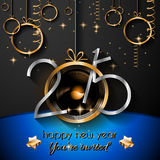 2015 New Year and Happy Christmas background. For your flyers, invitation, party posters, greetings card, brochure cover or generic banners Vector Illustration