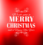 2016 New Year and Happy Christmas background for your flyers. Invitation, party posters, greetings card, brochure cover or generic banners Stock Images