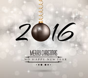 2016 New Year and Happy Christmas background. For your flyers, invitation, party posters, greetings card, brochure cover or generic banners Stock Image