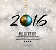 2016 New Year and Happy Christmas background Stock Images