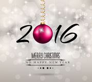 2016 New Year and Happy Christmas background. For your flyers, invitation, party posters, greetings card, brochure cover or generic banners Stock Photo
