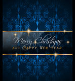 2016 New Year and Happy Christmas background. For your flyers, invitation, party posters, greetings card, brochure cover or generic banners Royalty Free Illustration