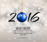 2016 New Year and Happy Christmas background for your flyers,. Invitation, party posters, greetings card, brochure cover or generic banners Stock Photos