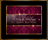 2016 New Year and Happy Christmas background Royalty Free Stock Image