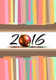 2016 New Year and Happy Christmas background. For your flyers, invitation, party posters, greetings card, brochure cover or generic banners Royalty Free Stock Photo