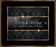 2016 New Year and Happy Christmas background. For your flyers, invitation, party posters, greetings card, brochure cover or generic banners Stock Photography