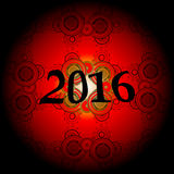 2016 New Year and Happy Christmas background for your flyers, invitation Stock Photography