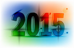 New year 2015. Happy new year 2015 colorful Lights Stock Photography