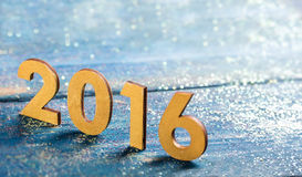 New year 2016. Happy New Year concept, closeup on 2016 royalty free stock photography