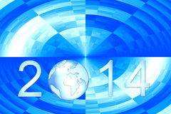 New year 2014. 2014 happy new year earth background Royalty Free Stock Image