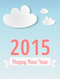 2015, New year. Happy new year 2015, greeting card Stock Image