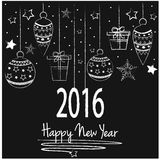 New Year. Happy New Year Greeting Card. Vector Illustration Royalty Free Stock Photography