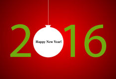 2016 new year. Happy holidays background. Vector Vector Illustration