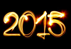New Year 2015. Happy New Year 2015 by light Stock Images