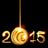 New Year 2015. Happy New Year 2015 by light Royalty Free Stock Images