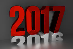 2017 new year. happy new year 2017 3d render Stock Images