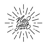 New Year 2019. Happy New Year 2019 hand lettering label. Hand drawn logo for New Year card, poster, design etc Royalty Free Stock Image