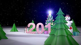 New Year 2016. stock video