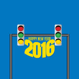 New year 2016. Happy new year 2016 vector Royalty Free Stock Photos