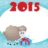 New year 2015. Happy new year vector illustration.decorative symbol of the new year,sheep and goat , 2015 Royalty Free Illustration