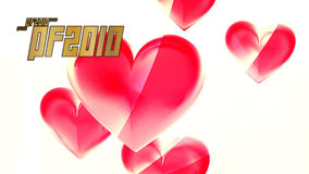 New year hearts. Wallpaper background with rendered hearts Stock Photos
