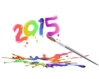 New year 2015. Here comes the new year 2015 vector illustration