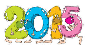 New year 2015. Here comes the new year ... 2015 stock illustration