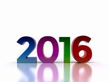 New Year 2016. Here comes the new year ... 2016 - 3D Stock Photos