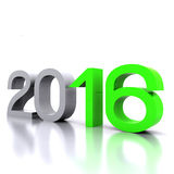 New Year 2016. Here comes the new year ... 2016 - 3D Stock Image