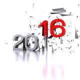 New Year 2016. Here comes the new year ... 2016 - 3D Royalty Free Stock Image