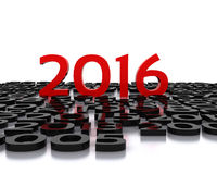 New Year 2016. Here comes the new year ... 2016 - 3D Stock Photography