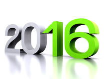 New Year 2016. Here comes the new year ... 2016 - 3D Royalty Free Stock Photo