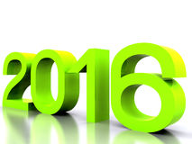 New Year 2016. Here comes the new year ... 2016 - 3D Royalty Free Stock Photos