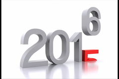 New year 2016. Here comes the new year ... 2016 - 3D stock footage