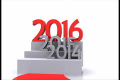 New year 2016 stock footage