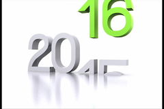New year 2016. Here comes the new year ... 2016 - 3D stock video