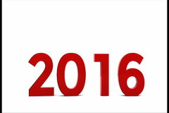 New year 2016. Here comes the new year ... 2016 - 3D stock video footage